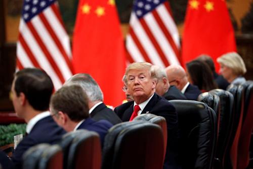 Tổng thống Mỹ Donald Trump tại Bắc Kinh năm 2017. Ảnh: Reuters.
