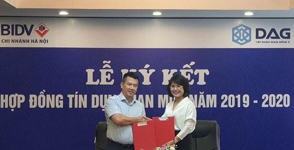 Nhựa Đông Á (DAG) ký thỏa thuận hợp tác toàn diện với BIDV chi nhánh Hà Nội