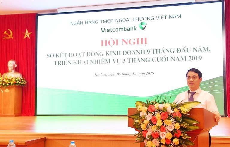 Chủ tịch HĐQT Vietcombank, ông Nghiêm Xuân Thành phát biểu chỉ đạo Hội nghị.