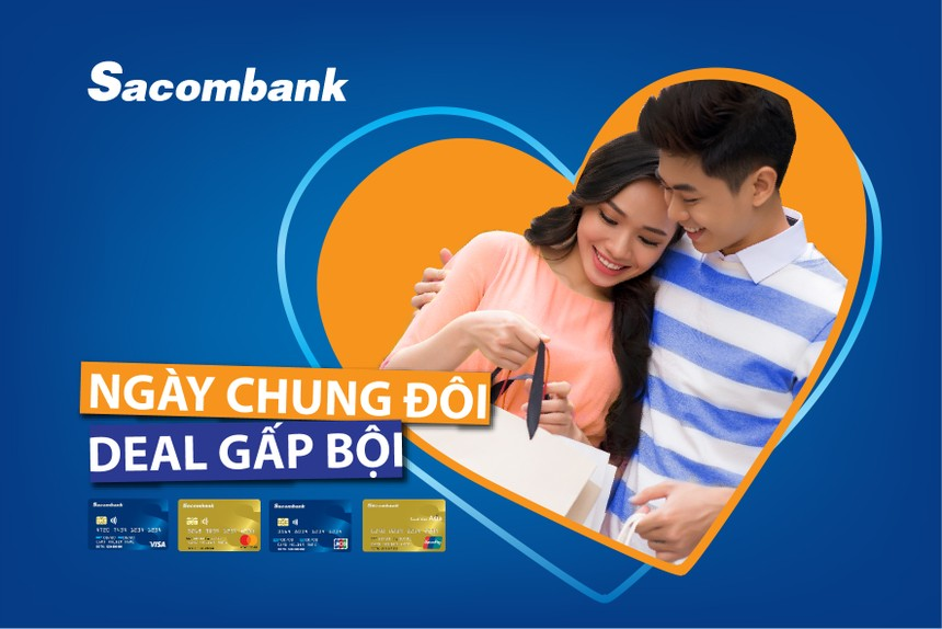 Nhân dịp Valentine, Sacombank dành nhiều ưu đãi cho chủ thẻ