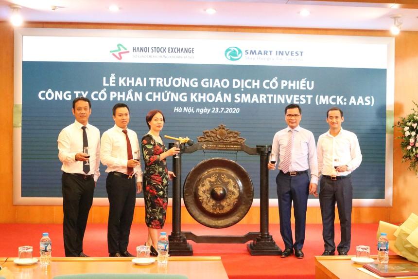 Chứng khoán SmartInvest (AAS) tăng kịch trần trong phiên giao dịch đầu tiên