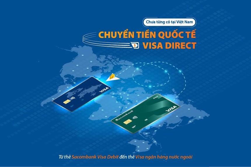 Sacombank triển khai dịch vụ chuyển tiền nhanh đến thẻ Visa tại nước ngoài
