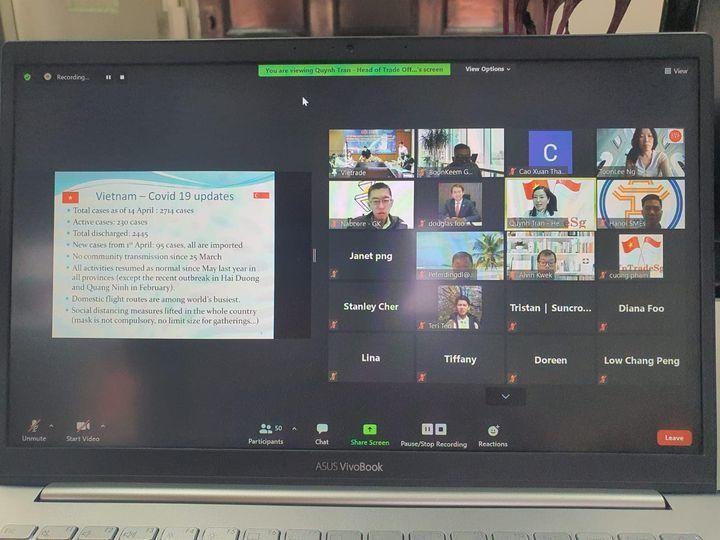 Doanh nghiệp Singapore giao lưu trực tuyến tìm hiểu cơ hội đầu tư với doanh nghiệp Việt Nam