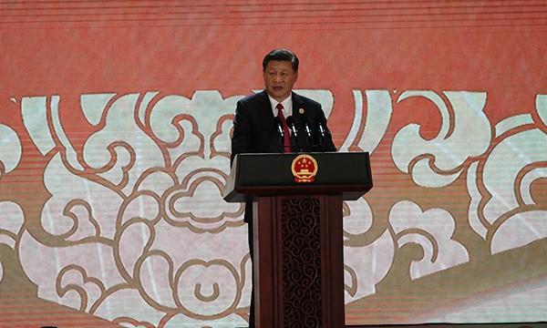 Chủ tịch Trung Quốc phát biểu trước cử tọa CEO Summit.