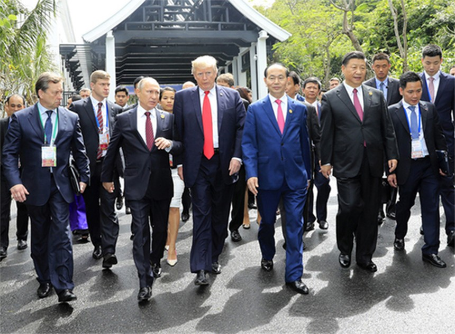 Chủ tịch nước Trần Đại Quang và lãnh đạo các nền kinh tế APEC tại Đà Nẵng.