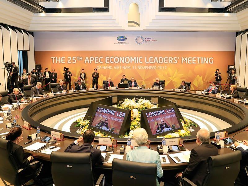 Hội nghị Các nhà lãnh đạo Kinh tế APEC lần thứ 25. Ảnh:TTXVN
