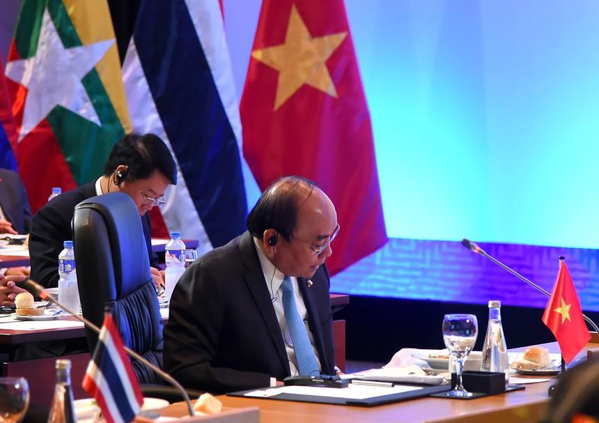 Thủ tướng Nguyễn Xuân Phúc phát biểu tại Hội nghị Cấp cao Mekong-Nhật Bản.