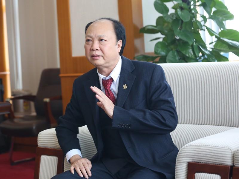 Doanh nhân Nguyễn Đình Thắng. Ảnh: Dũng Minh