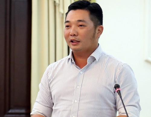 Chủ tịch quận 12 Lê Trương Hải Hiếu. Theo Vnexpress