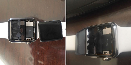 Apple Watch bị lỗi bung máy.