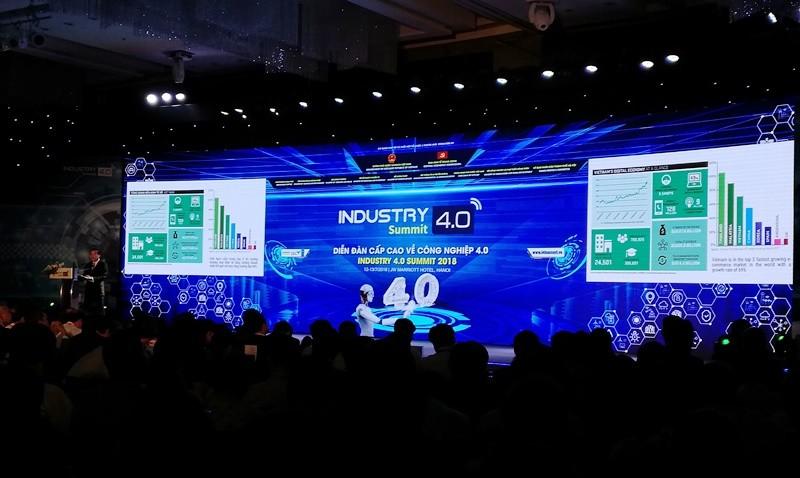 Diễn đàn cấp cao về công nghiệp 4.0 năm 2018 thu hút sự quan tâm của giới chuyên gia thế giới.