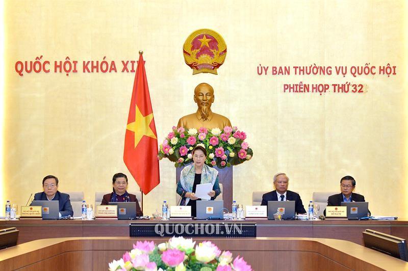 Chủ tịch Quốc hội Nguyễn Thị Kim Ngân phát biểu Khai mạc Phiên họp thứ 32 của Uỷ ban Thường vụ Quốc hội.