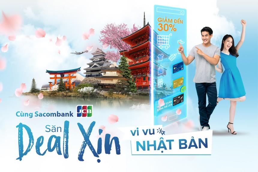 Chủ thẻ Sacombank JCB được du lịch Nhật Bản và tận hưởng nhiều ưu đãi khi mua sắm