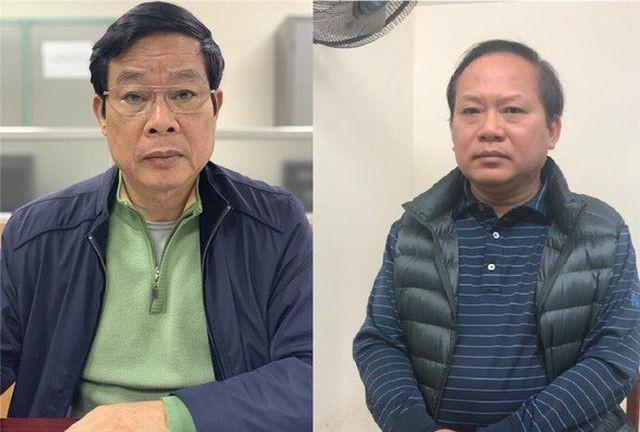 Bị can Nguyễn Bắc Son (trái) và Trương Minh Tuấn. (Nguồn: Cổng thông tin Bộ Công an).
