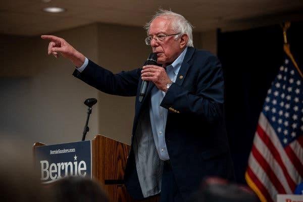 Ông Bernie Sanders trong một buổi vận động tranh cử. (Nguồn: NYT).