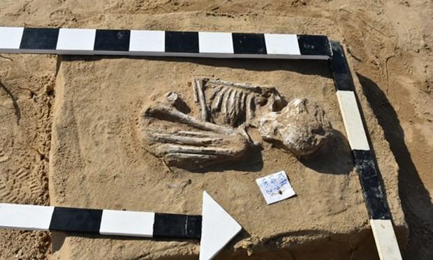 Một phần của ngôi mộ được phát lộ. (Nguồn: egypttoday.com/).