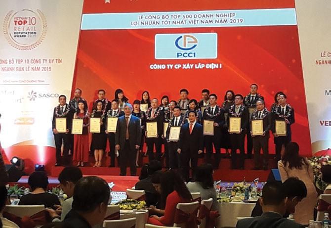 PCC1 năm thứ 2 liên tiếp vào bảng xếp hạng PROFIT 500