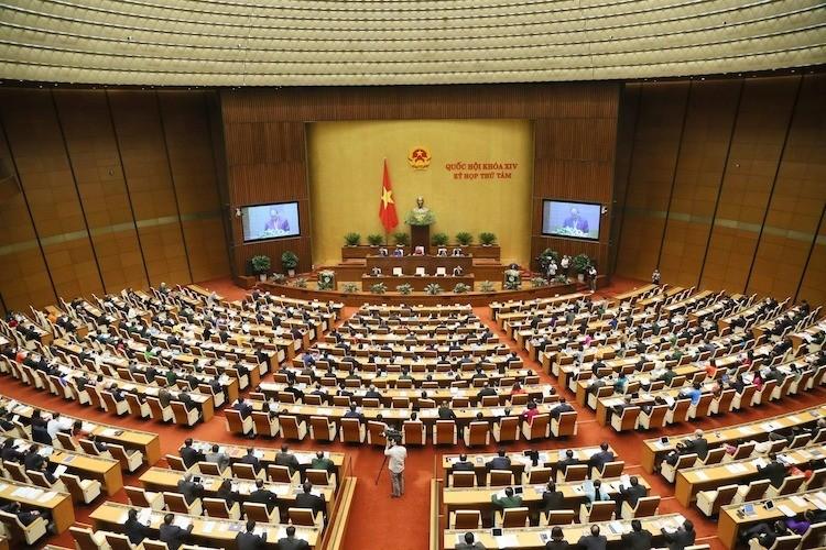Toàn cảnh kỳ họp thứ 8, Quốc hội khoá XIV. Ảnh: Trung tâm báo chí Quốc hội.
