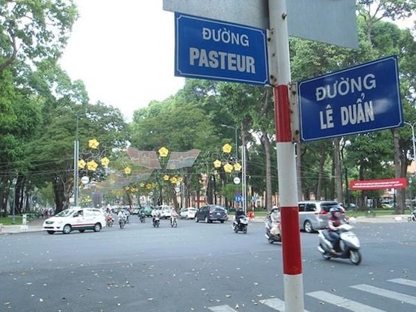 Đường Lê Duẩn ở trung tâm TP HCM.