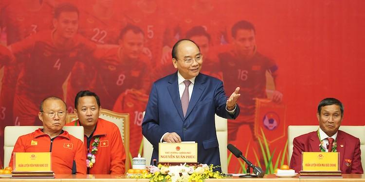 Thủ tướng phát biểu tại cuộc gặp. Ảnh: VGP.