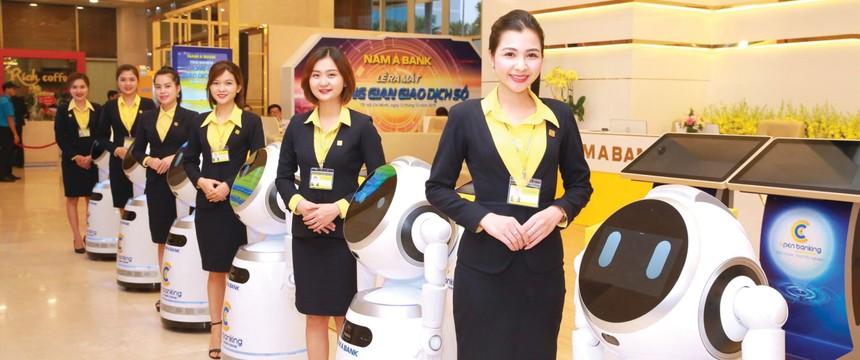 Nam A Bank - Ngân hàng Việt đầu tiên đưa robot vào giao dịch