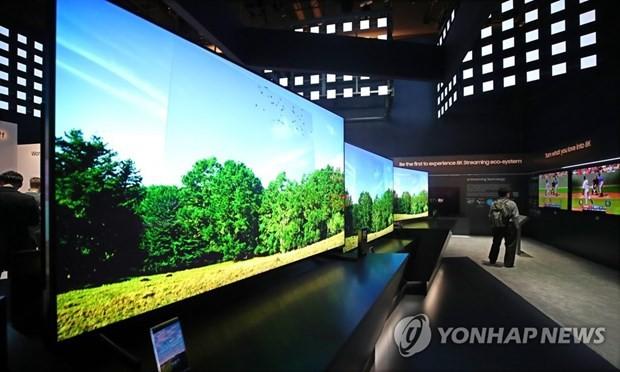 Các sản phẩm tivi của Samsung tại CES 2019. (Nguồn: Yonhap)