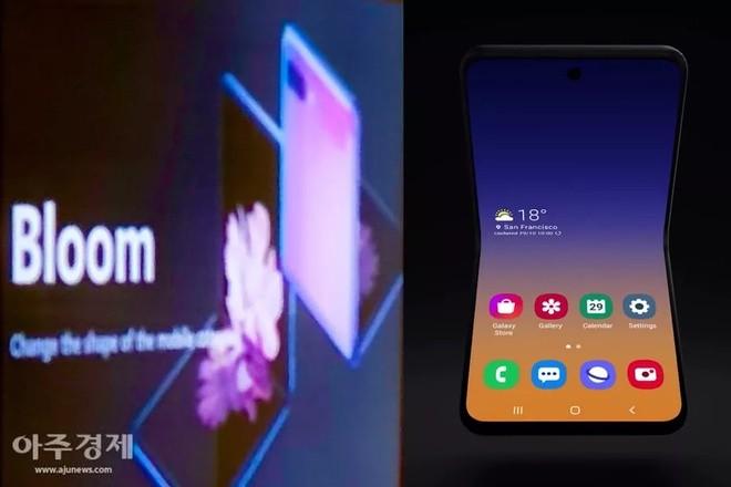 Bức hình được cho là ảnh quảng cáo của chiếc smartphone màn hình gập thứ 2 từ Samsung. Ảnh: The Verge.