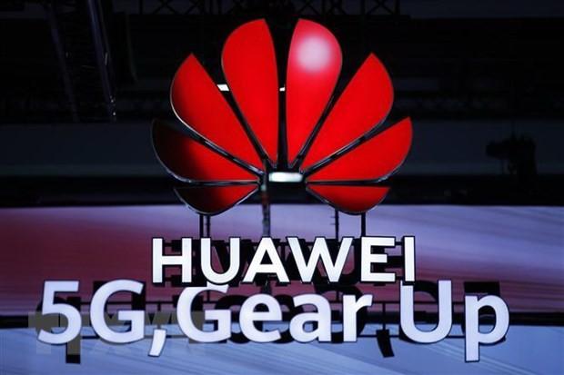 Mạng 5 G của Huawei được giới thiệu tại Diễn đàn Băng thông rộng Di động Toàn cầu ở Zurich, Thụy Sĩ, ngày 15/10/2019. (Nguồn: AFP/TTXVN)