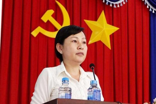 Bà Huỳnh Thị Hằng, Ủy viên Ban Thường vụ Tỉnh ủy, Phó Chủ tịch Ủy ban Nhân dân tỉnh được bầu giữ chức Phó Bí thư Thường trực Tỉnh ủy Bình Phước.