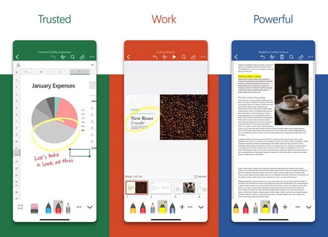 Bộ ứng dụng Office trên iOS vừa được cập nhật giao diện mới trực quan hơn và nhanh hơn.