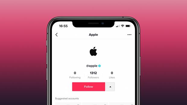 Tài khoản Apple trên trang mạng xã hội video ngắn TikTok. (Nguồn: 9to5Mac).
