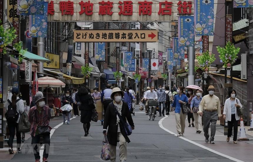 Quang cảnh đường phố tại Tokyo, Nhật Bản. (Ảnh: AFP/TTXVN).