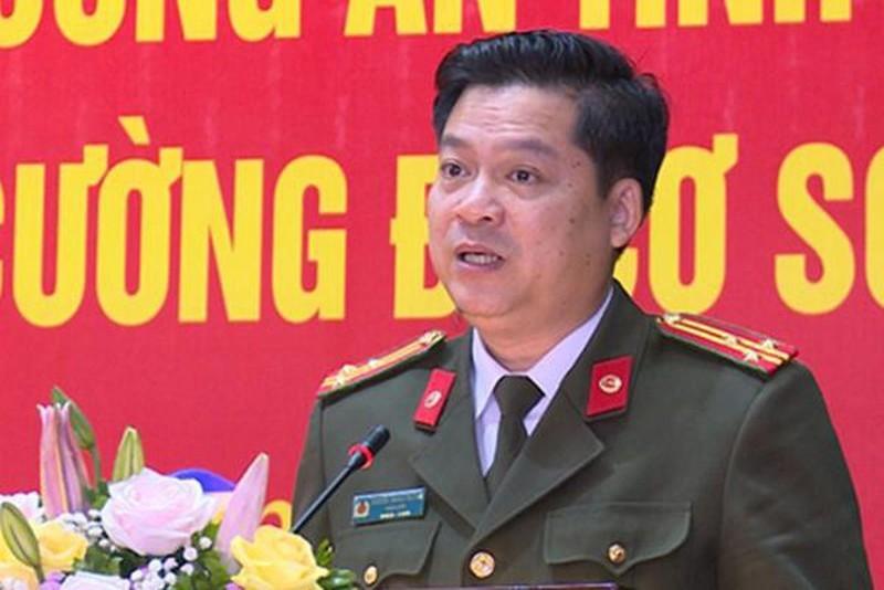 Thượng tá Nguyễn Thanh Trường vừa được thăng hàm.