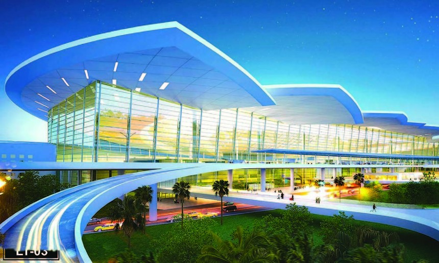 Phương án kiến trúc hoa sen cách điệu của nhà ga hành khách, CHK quốc tế Long Thành.