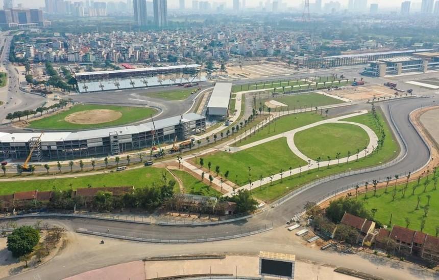 Khu vực đường đua F1 tại Hà Nội trước khi bị dỡ bỏ. (Ảnh nguồn: VGPC).