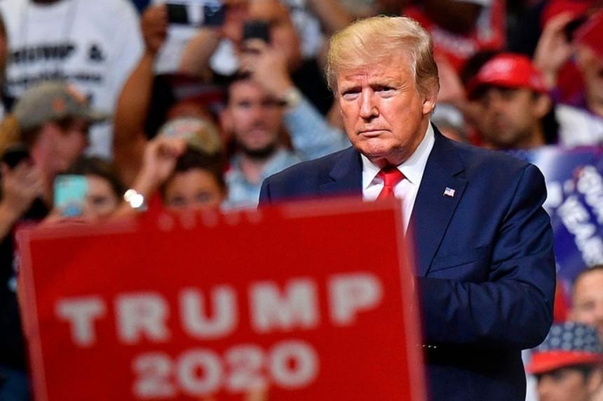 Ông Trump trong một cuộc vận động tái tranh cử Tổng thống Mỹ tại Florida. Ảnh: AFP.