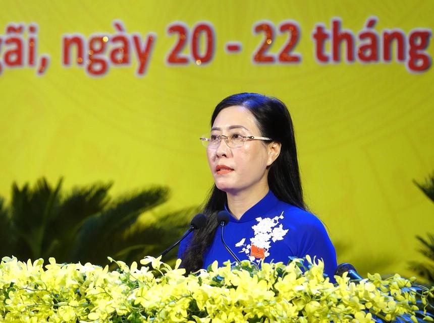 Đồng chí Bùi Thị Quỳnh Vân tái đắc cử Bí thư Tỉnh ủy Quảng Ngãi. Ảnh: VGP/Lưu Hương.