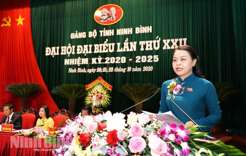Đồng chí Nguyễn Thị Thu Hà, Bí thư Tỉnh ủy khóa XXII, nhiệm kỳ 2020-2025. Ảnh: Báo Ninh Bình.