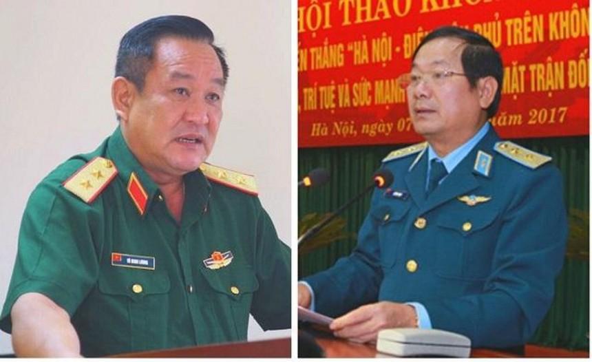 Trung tướng Võ Minh Lương (trái) và Thượng tướng Lê Huy Vịnh.