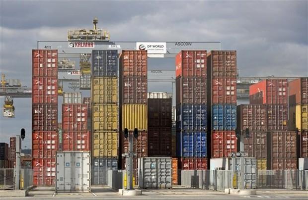 Cảng hàng hóa ở Corringham, phía Tây London, Anh. (Nguồn: AFP/TTXVN).