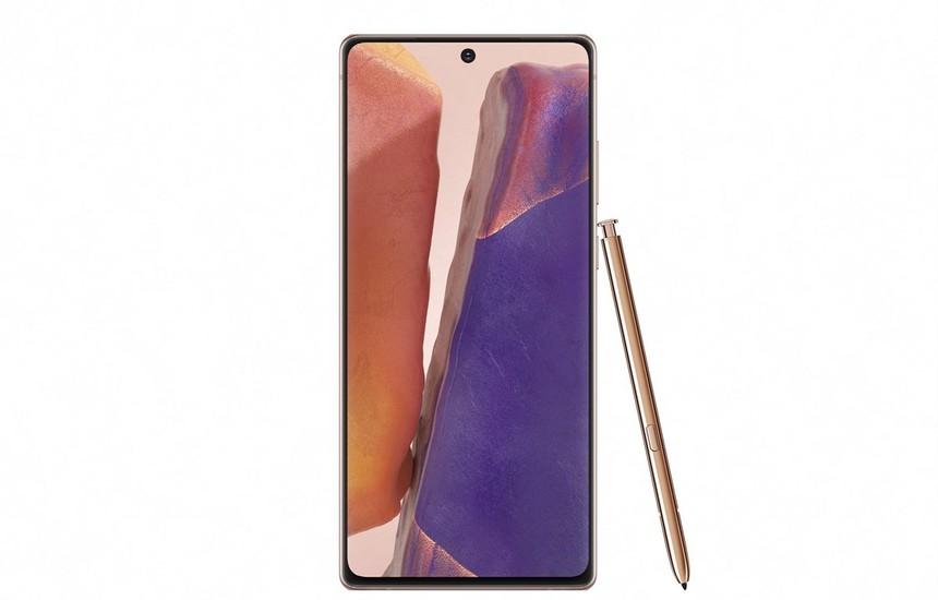 Mẫu smartphone Galaxy Note 20. (Ảnh: Yonhap/TTXVN).