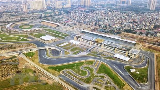 Khu vực đường đua F1 tại Hà Nội trước khi bị dỡ bỏ. (Ảnh: Thành Đạt/TTXVN).
