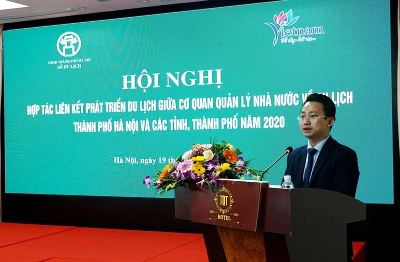 """Ông Trần Trung Hiếu cho biết, Hà Nội xác định giai đoạn tới, ngành kinh tế xanh Thủ đô phải """"phát huy hiệu quả vai trò trung tâm điều phối du lịch lớn nhất của khu vực phía Bắc, gắn kết chặt chẽ với các chuỗi sản phẩm trong vùng, cả nước, và quốc tế""""."""