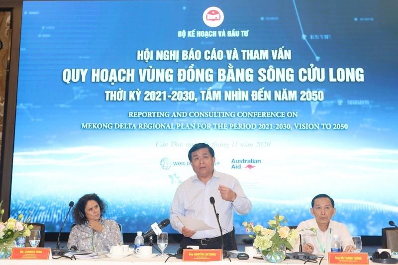 Bộ trưởng Bộ Kế hoạch và Đầu tư Nguyễn Chí Dũng đánh giá, quy hoạch vùng ĐBSCL là một việc làm mới và rất khó. Đây là lần đầu tiên chúng ta lập quy hoạch vùng, lần đầu tiên lập quy hoạch theo phương pháp tích hợp, đa ngành..