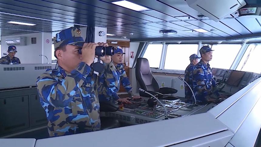 Bộ Tư lệnh Vùng cảnh sát biển 2 cũng tăng cường công tác trinh sát, nắm bắt tình hình trên tất cả các hướng.