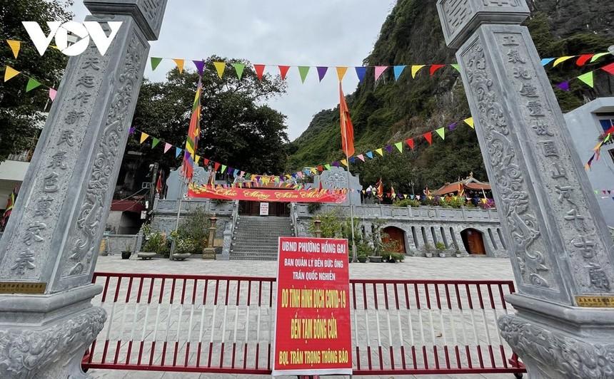 Các điểm tham quan, di tích tôn giáo tại Quảng Ninh đều không đón khách.