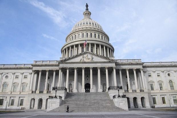 Quang cảnh tòa nhà Quốc hội Mỹ ở Washington DC., ngày 9/2/2021. (Ảnh: AFP/TTXVN).