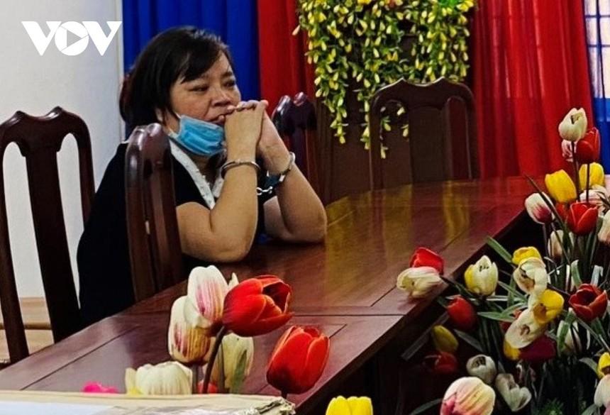 Bà Võ Kim Mẩn đang bị tạm giam để điều tra.