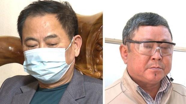 Hai đối tượng bị công an bắt giữ. (Nguồn: Công an tỉnh Thanh Hóa).