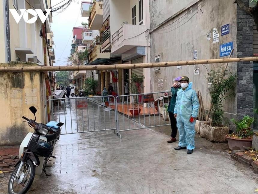 Phong toả khu vực nhà riêng của ca nghi mắc Covid -19 tại 18/337, khu 17, phường Ngọc Châu, thành phố Hải Dương.
